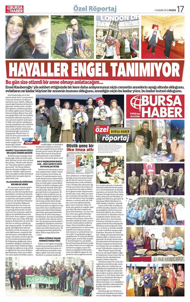 Turkey newspaper reports on Canadian International AWAF event 2015