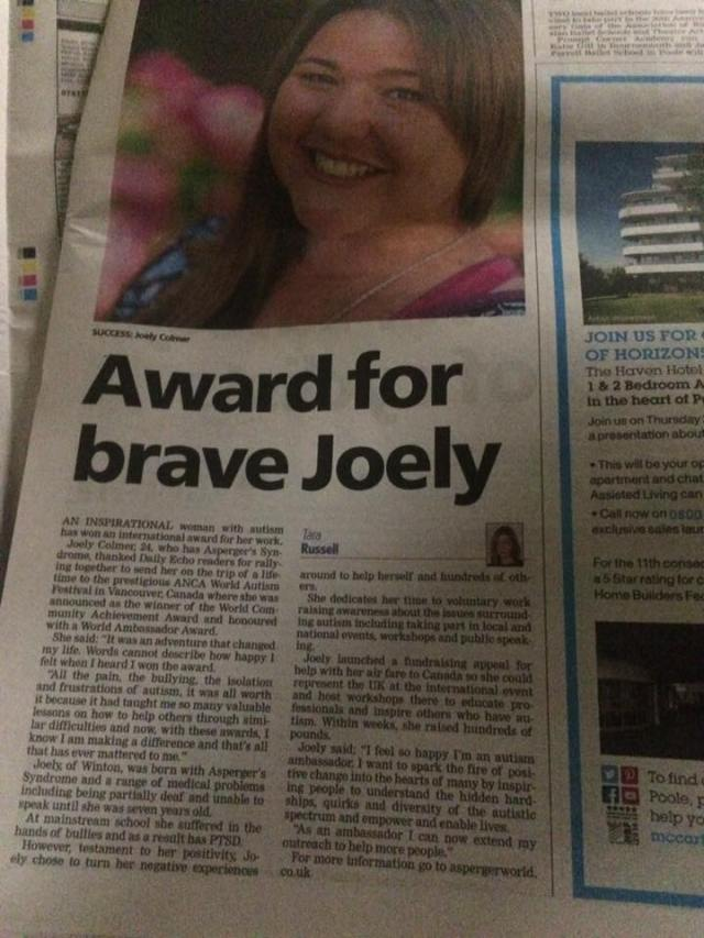 Joely Colmer newspaper