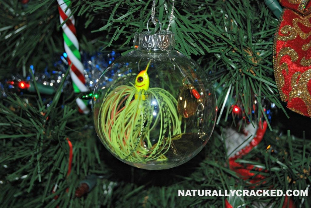 DIY Fishing Lure Ornament Naturally Cracked
