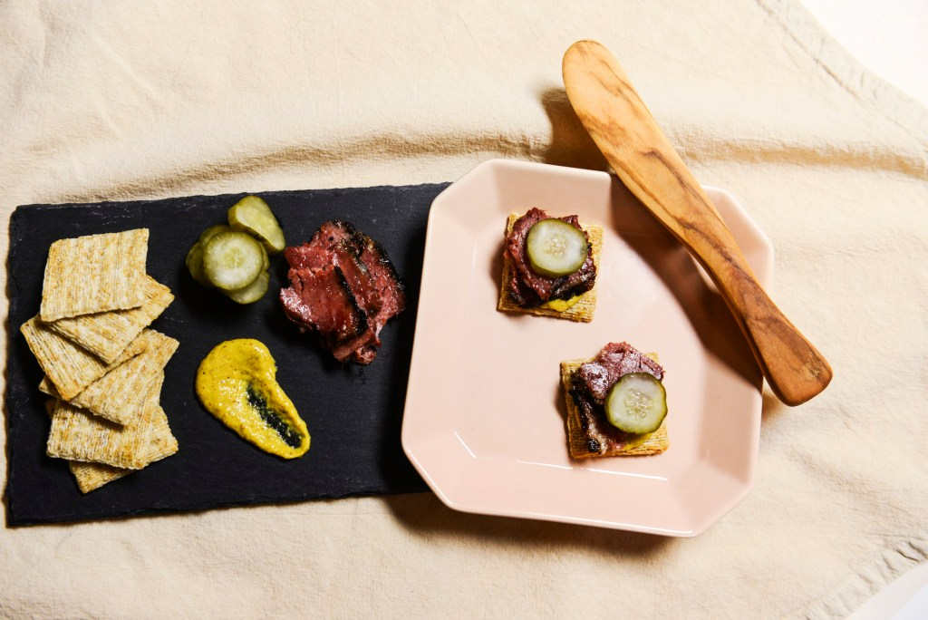 Pastrami with Pickles and Mustard Recipe