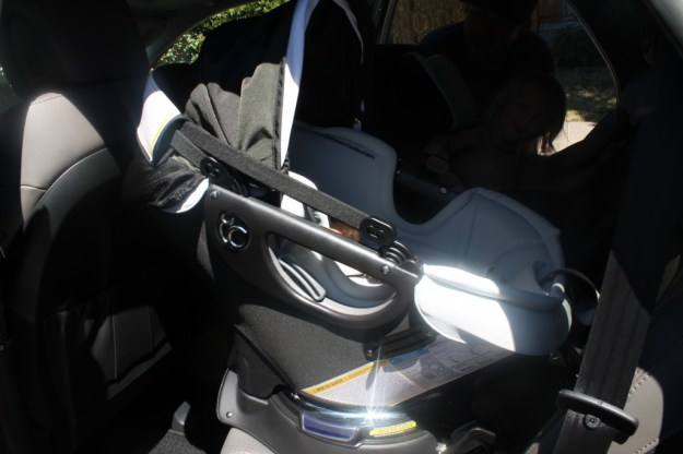 Orbit Baby Infant Carseat in Car