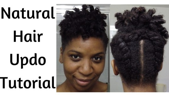 Faux Tapered Cut Updo Natural Style