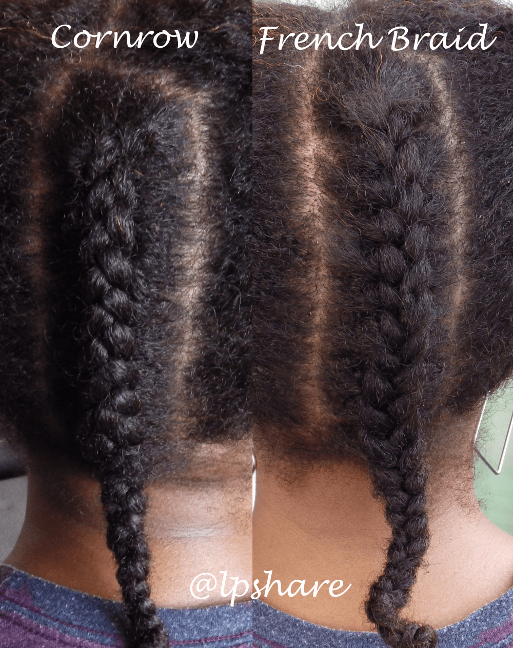 cornrow and frenchbraid comparison