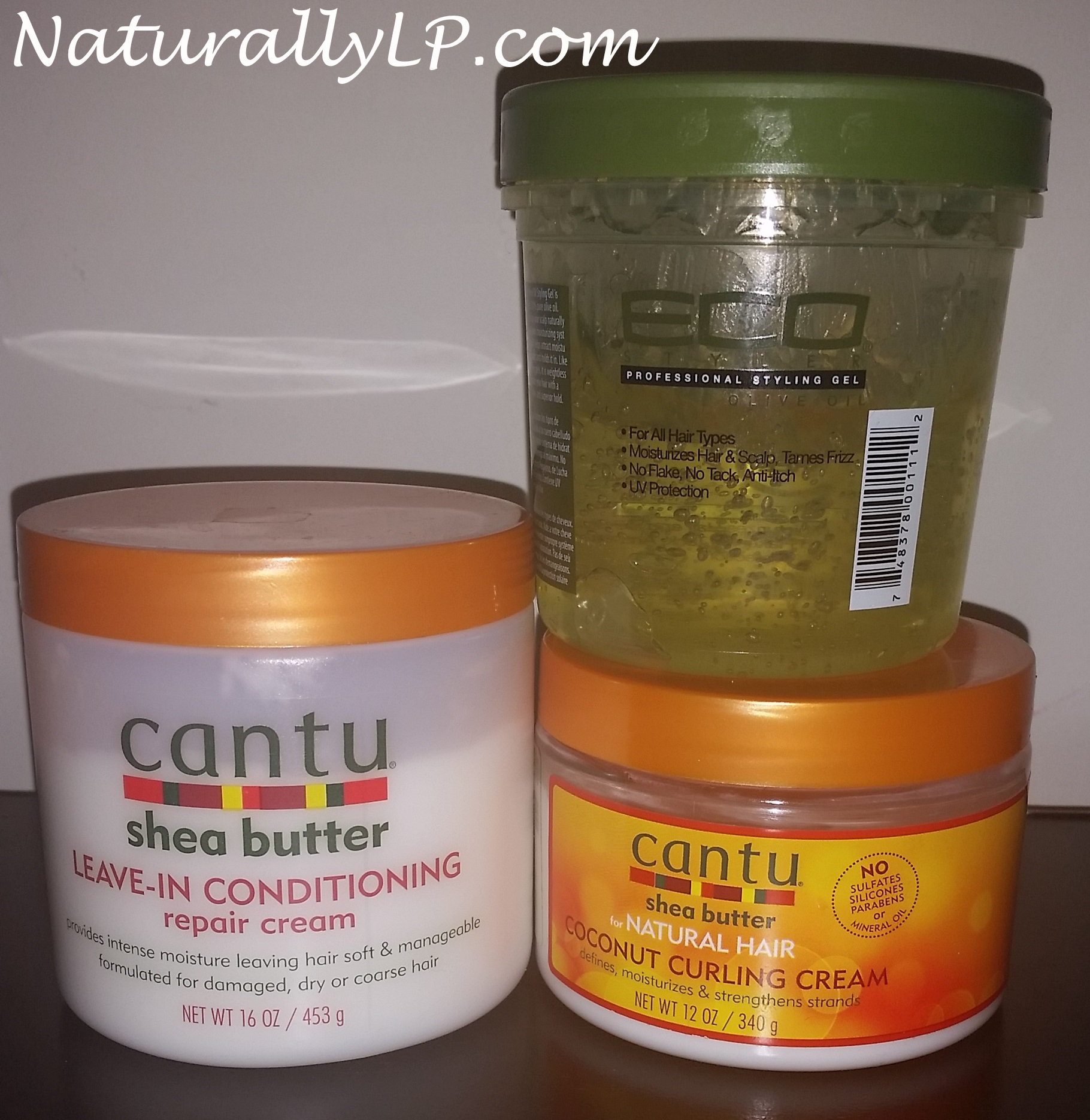Cantu Shea Butter Leave In Cantu Shea Butter Coconut Curling Cream Eco Styler Olive Oil Gel Naturally LP Share