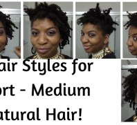 5 Hair Styles for Short to Medium Length Natural Hair