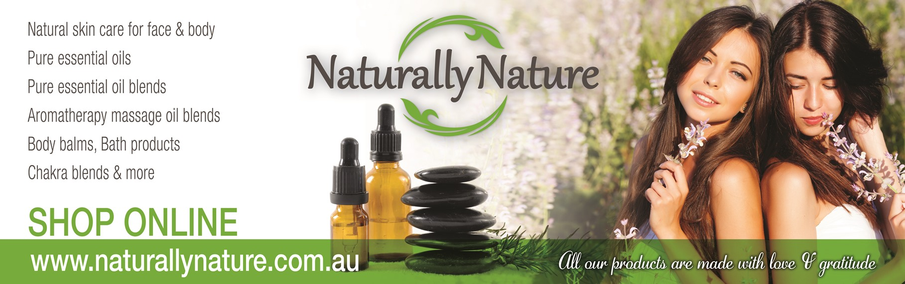 Naturally Nature, pure Essential Oils, Aromatherapy products