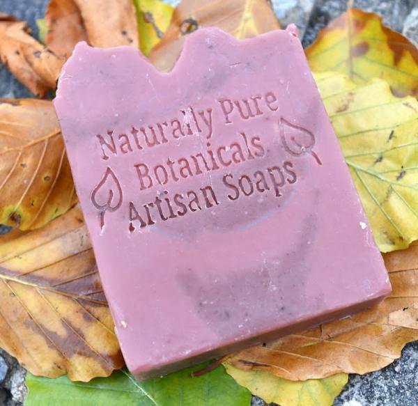 Ylang Ylang & Pink Clay soap on leaves