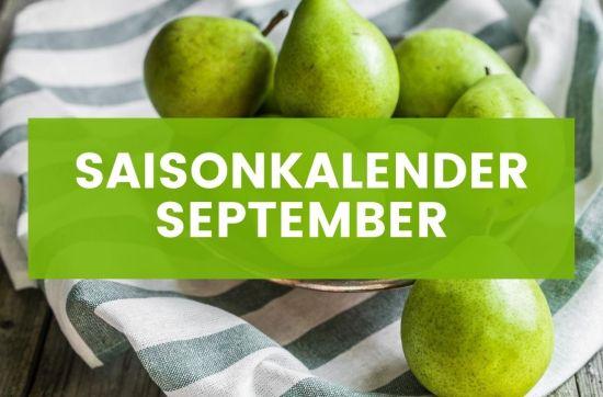 Saisonkalender September Birnen