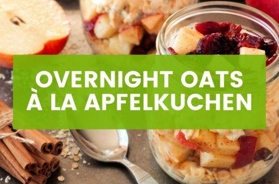 Vegane Overnight Oats Apfelkuchen