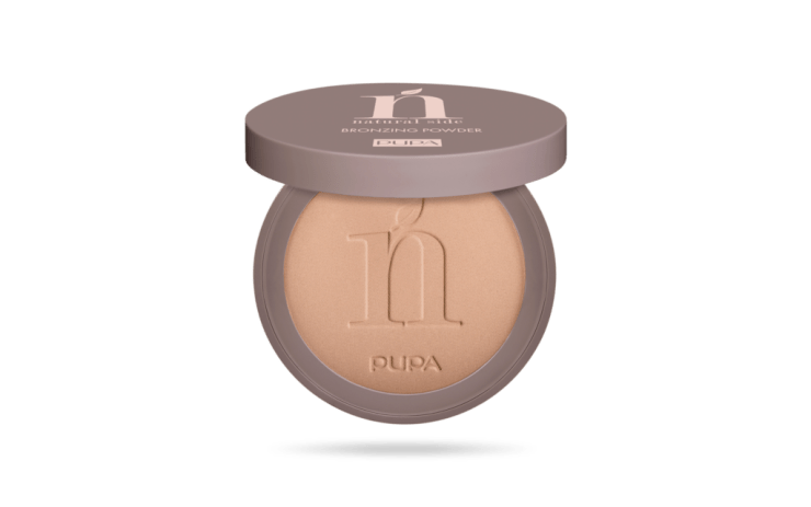 Natural side bronzing powder pupa
