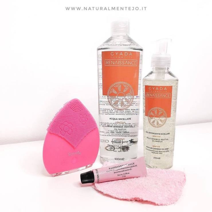 Cleansing brush sunmay con detergenti viso gyada cosmetics