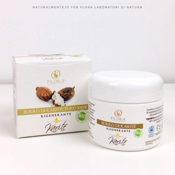 Packaging del Burro di Karitè Flora nella versione da 50ml