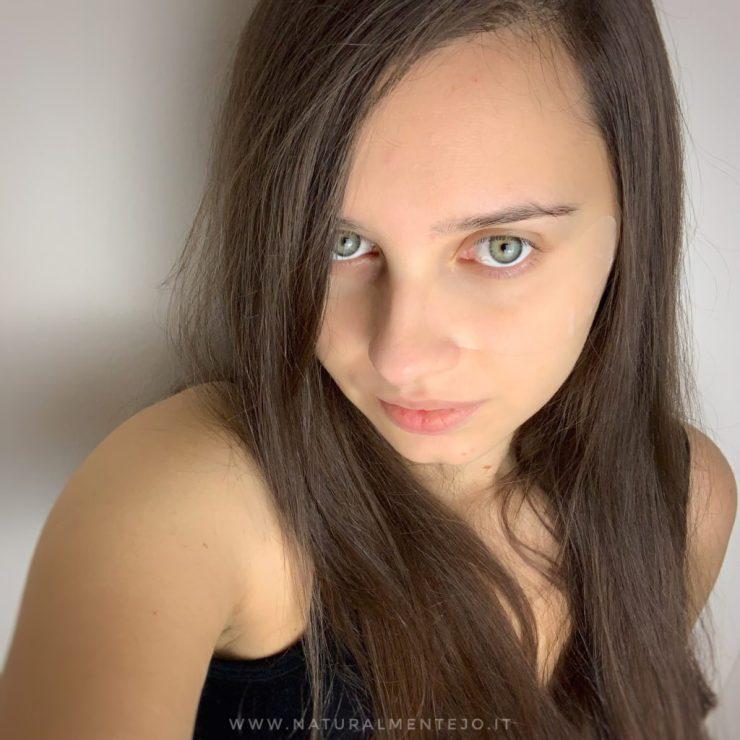 Patch occhi gyada cosmetics indossati