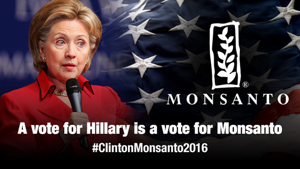 'March Against Monsanto'  Hillary-Clinton-Monsanto-2016