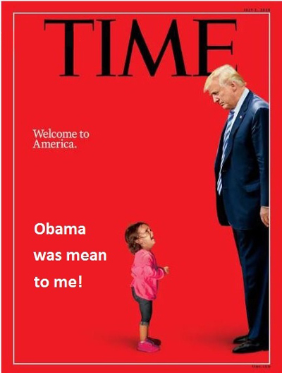 "The most hilarious memes mocking TIME's fake news ""screaming migrant girl"" magazine cover Time-Welcome-to-America-Meme-Obama-Mean-400"