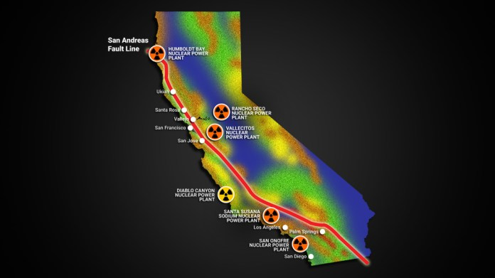 """Image: EXCLUSIVE: California's nuclear power plants built in close proximity to the San Andreas fault, setting up catastrophic """"Fukushima"""" event for the West Coast"""