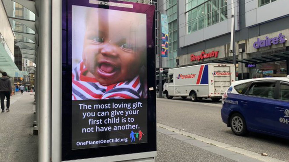 Image: Public billboard calls for the elimination of black children in push for population control