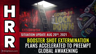 Image: Health authorities are pushing booster shot extermination plans to hurry and kill the masses before they fully awaken to the covid scam