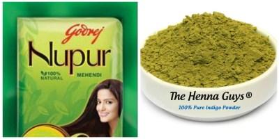nupur henna and indigo powder for dyeing hair