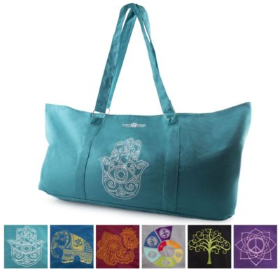 Peace Yoga® Yoga Mat Carrier Tote Bag With Adjustable Straps