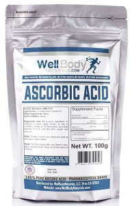 WellBodyNaturals Pure Ascorbic Acid (Vitamin C) Powder