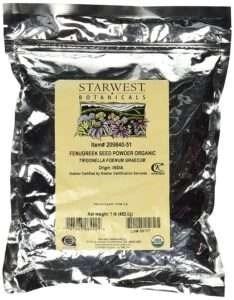 Starwest Botanicals Organic Fenugreek Seed Powder