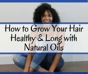 How to grow your hair healthy and long with natural oils book banner