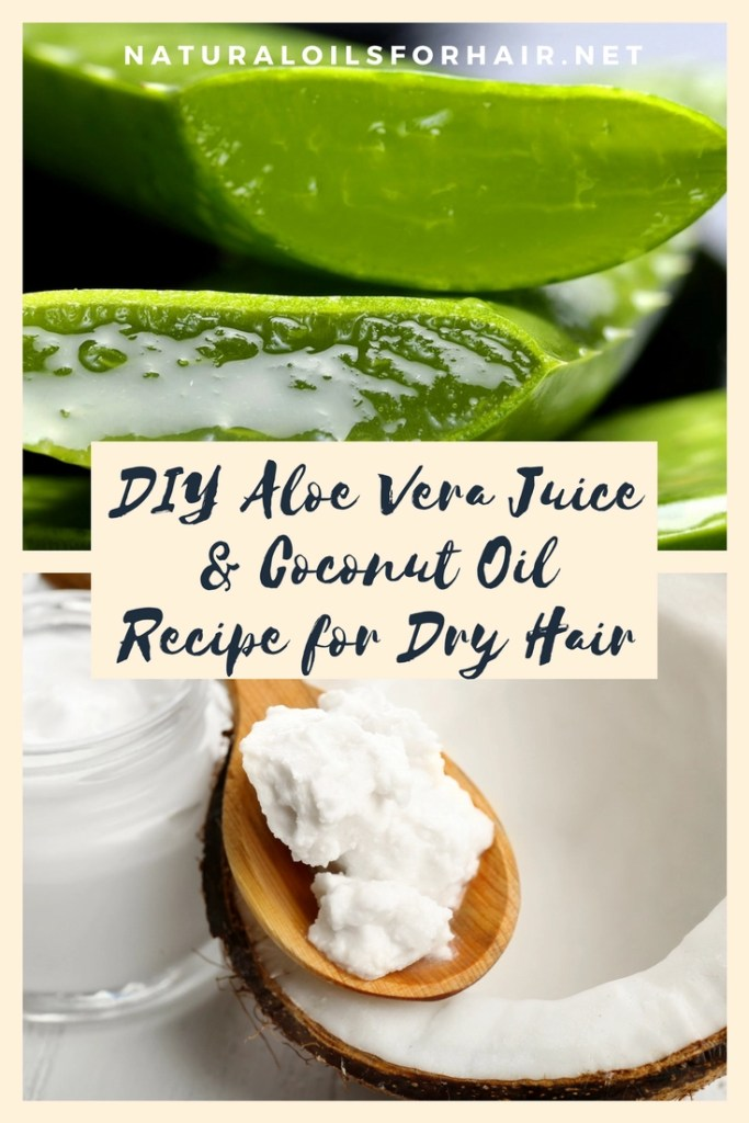 DIY Aloe Vera Juice and Coconut Oil Recipe for Dry Hair