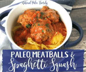 Spaghetti and meatballs are the ultimate comfort food.  For a while after giving up gluten, I thought I'd never be able to enjoy this meal again.  Thankfully, paleo meatballs are super easy to make, and go great with spaghetti squash.
