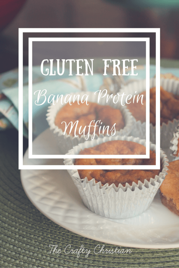 I've been struggling with getting my kids to eat anything for breakfast besides a few bites of cereal.  So I figured I'd try something new!  Made gluten free protein banana muffins, and they were a huge hit!