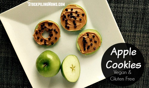 apple cookies on a plate