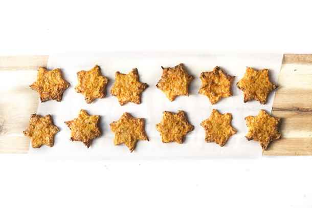carrot stars on parchment paper