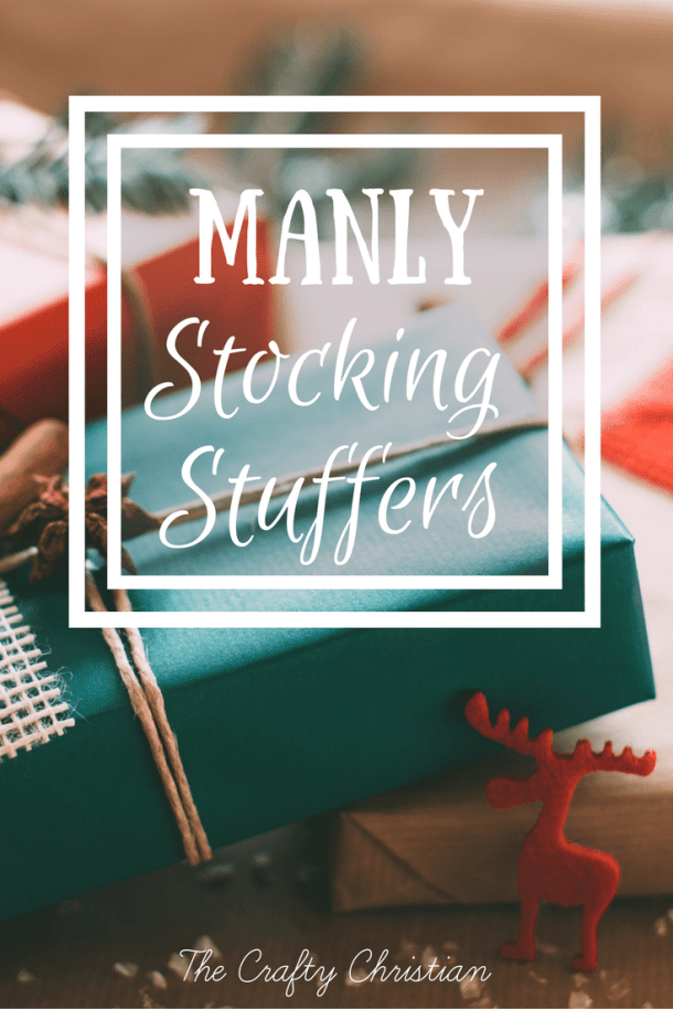 Why are men always so difficult to buy gifts for?  I know that I always have a hard time coming up with good ideas for my husband.  Here is a great list of manly stocking stuffers that maybe your husband will enjoy too!