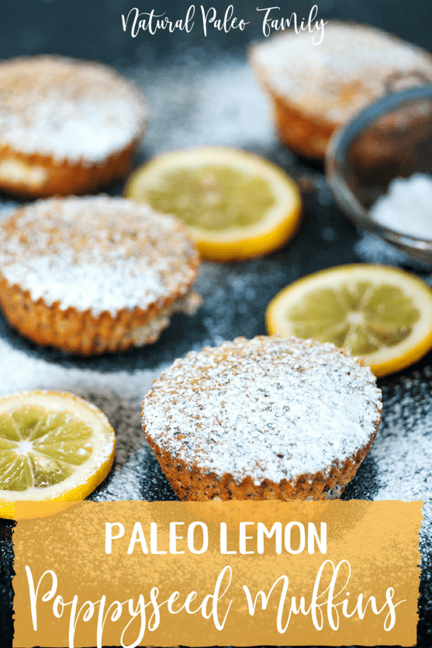 These paleo lemon poppyseed muffins are a perfect blend of lemon tartness and soft sweetness, all housed within a beautiful paleo and gluten-free batter that rises beautifully when baked.