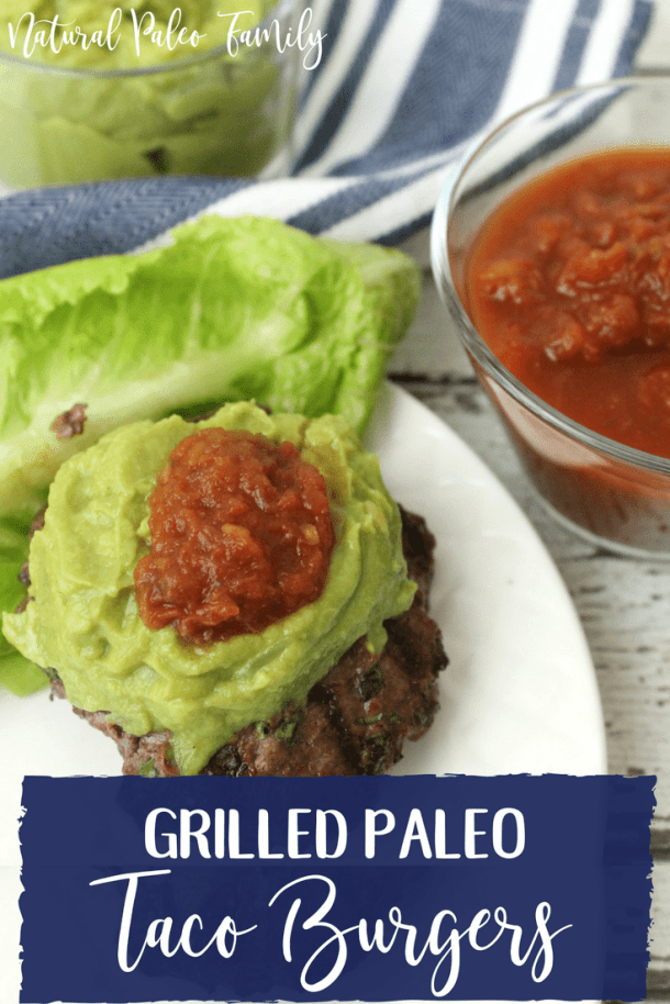 The weather is warm, the sun is out, and that grill that's been sitting unused all winter is just begging to be fired up again. Why not throw on some of these paleo taco burgers and wow your family, friends, and neighbors?