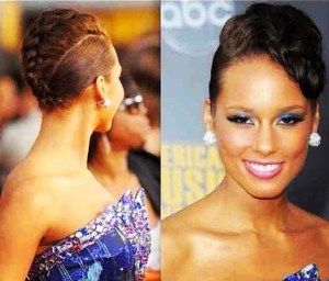 Alicia Keys Up-do Hair Style Tutorial