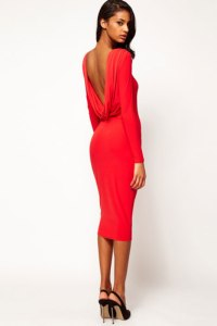 asos red midibodycondress Valentines day inspiration