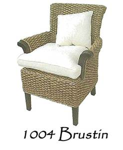 Brustin Wicker Arm Chair