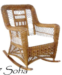 SOFIA Rattan Rocking Chair
