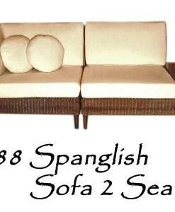 Spanglish Rattan Sofa 2 Seater