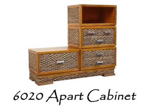 Apart Wicker Cabinet