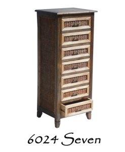 Seven Wooden Drawer