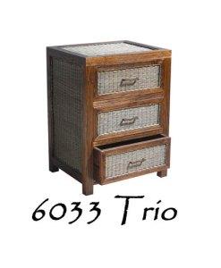 Trio træskuffe