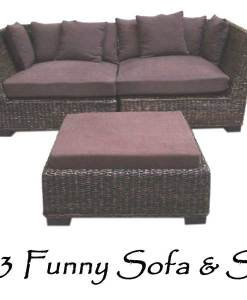 2083-Funny Wicker Sofa Stools
