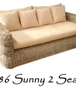 2086-Sunny Rattan Sofa 2 seater