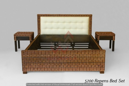Repens Rattan Bed Set