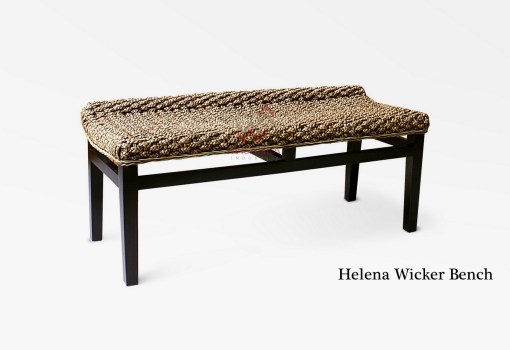 Helena Wicker Bench