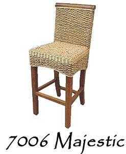 Majestic Wicker Barstool