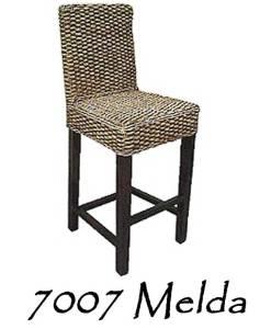 Melda Wicker Barstool