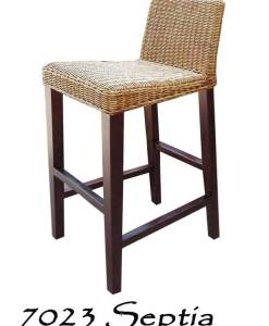 Septia Wicker Bar Stool